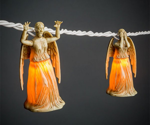Don't Stop Looking at the Weeping Angel String Lights