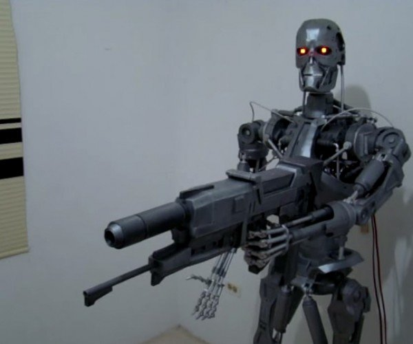 Life-size Wood & Cardboard T-800: Termite Hater