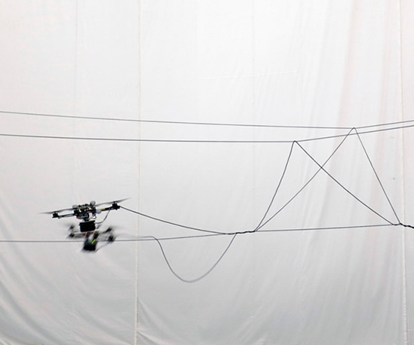 Autonomous Quadcopters Build Rope Bridge: Temple of Drones