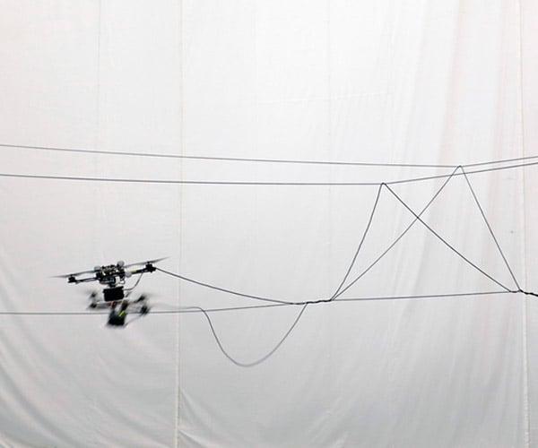 Autonomous Quadcopters Build Rope Bridge: Temple of Drones