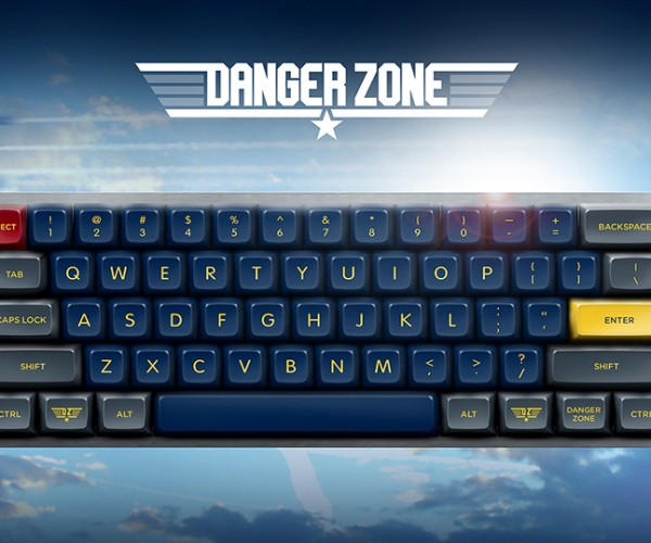 Danger Zone Keyboard Keycaps: Type Gun