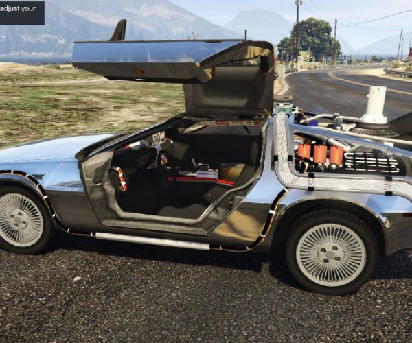 GTA V Mod Brings Time Traveling Back to the Future DeLorean