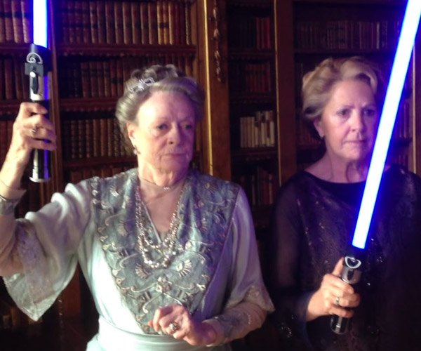 Downton Abbey Fights an Evil Butler with Lightsabers