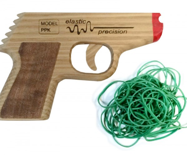 Take out Your Foes with the Semi-Automatic PPK Rubber Band Gun