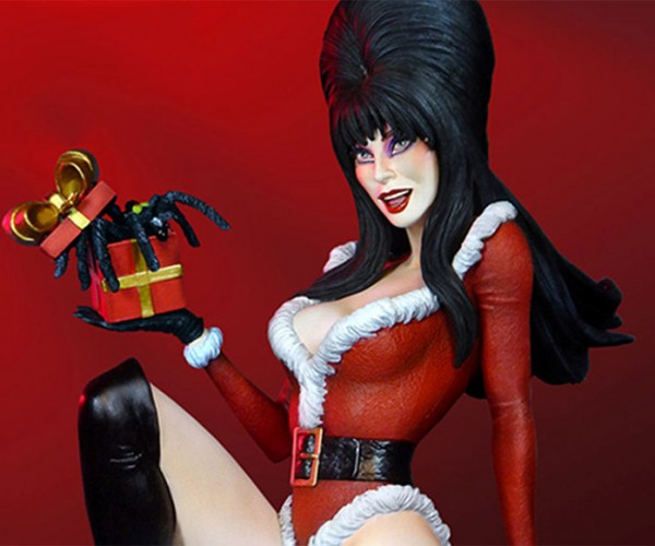 Elvira: Mistress of the Dark Christmas Statue Puts the Boo in Boobies