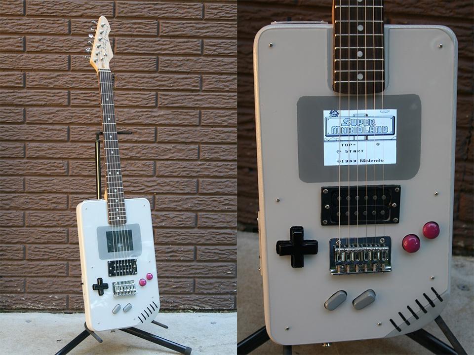 game boy electric guitar play it loud. Black Bedroom Furniture Sets. Home Design Ideas