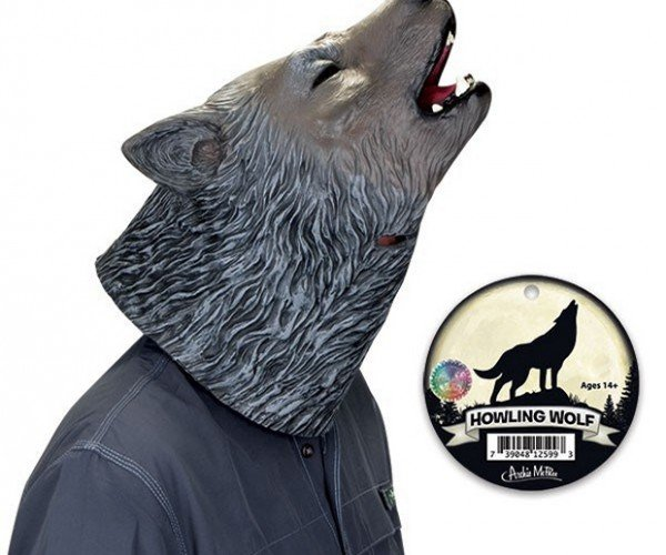 Realistic Howling Wolf Mask: He'll Rip Your Lungs out, Jim.