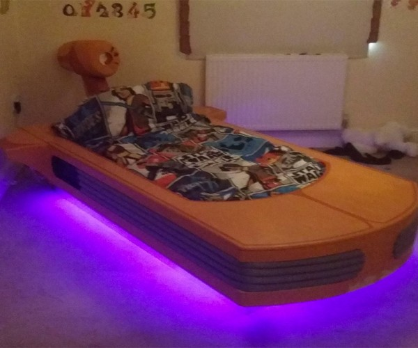 DIY Landspeeder Bed is the Night's Sleep You've Been Looking for