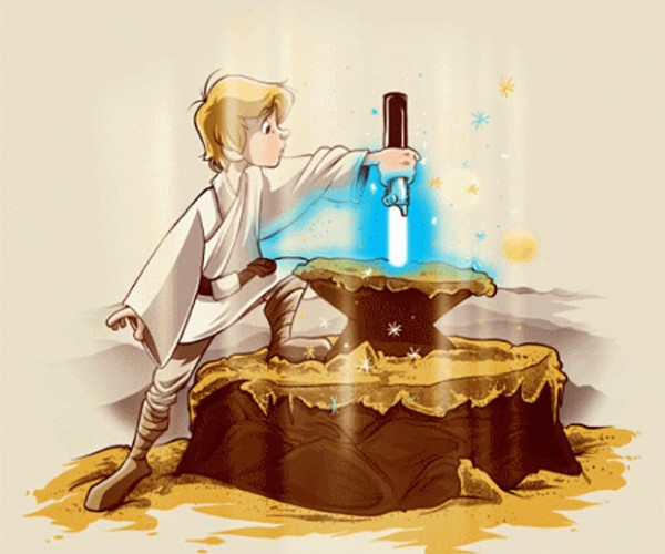 A New King T-shirt Mashes Star Wars with The Sword in the Stone
