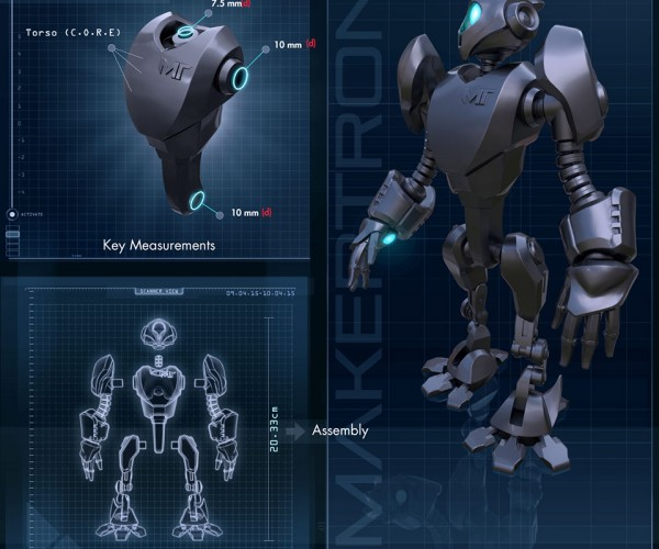 MakerTron Robot 3D Model Design Contest