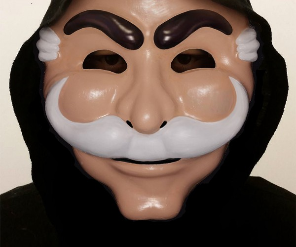 Fan-made Mr. Robot fsociety Mask: V for Vague Recollection