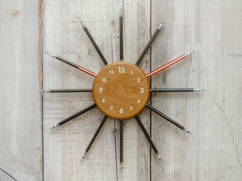 Nixie Radian Analog Tube Clock: Time is a Spiked Circle