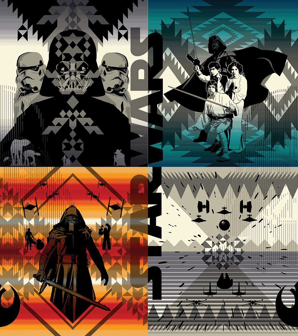 Pendleton Star Wars Blankets Forcelandia Technabob