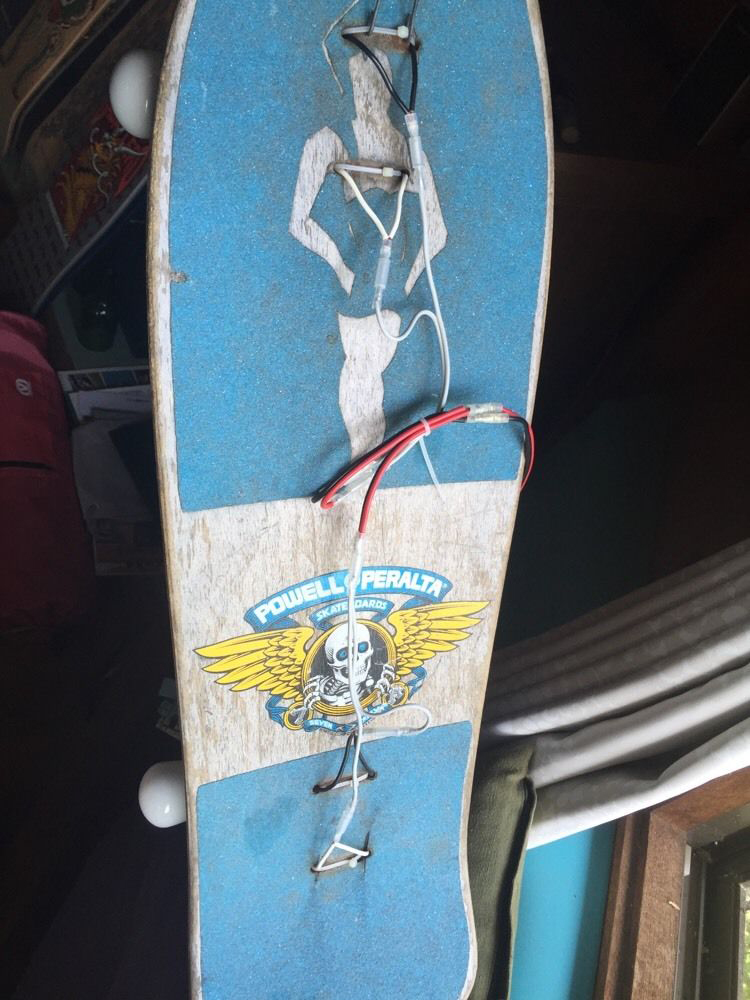 Upcycled Skateboard Wall Lamp Bulbflip Into Lightslide