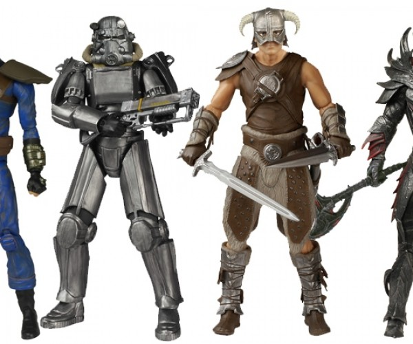 Fallout and Skyrim Action Figures: Shut up and Take My Bottle Caps