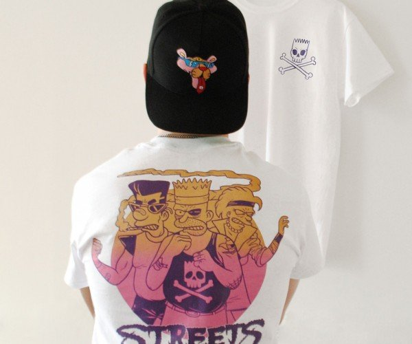 Streets of Rage x The Simpsons T-Shirt: Streets of Beige
