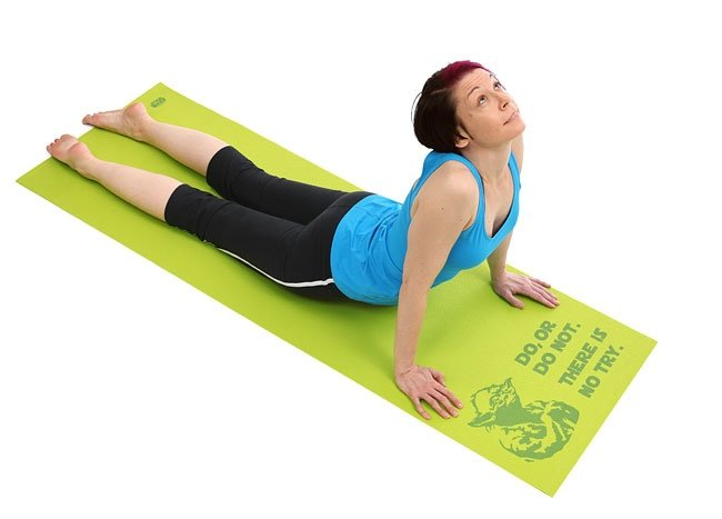 Star Wars Yoda Yoga Mat Downward Facing Dog Or Dog Not Technabob