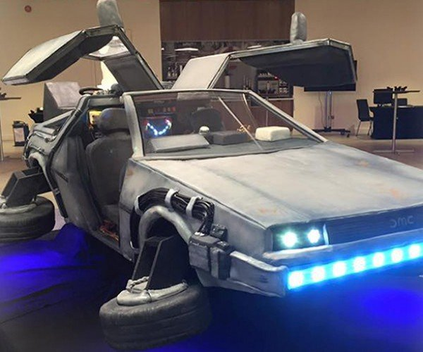DeLorean Time Machine Cake: Hover Converted Dessert