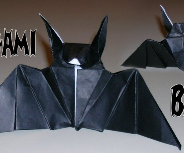 Make Some Cool Origami Bats for Halloween