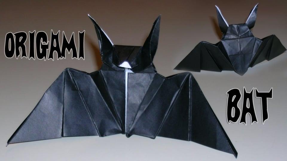 make some cool origami bats for halloween technabob