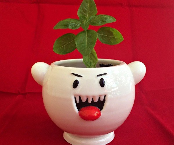 Super Mario Boo Ghost Planter: For Fire Flowers