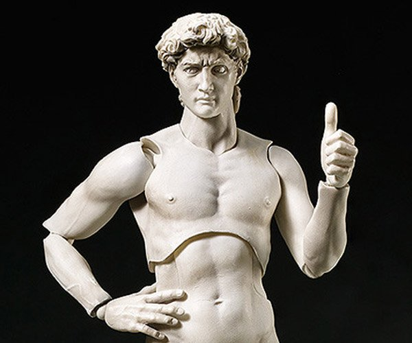 Michelangelo's David Figma Action Figure: Watch out, Hulkbuster!