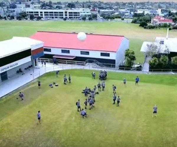 Student Knocks a Drone out of the Sky with Soccer Ball