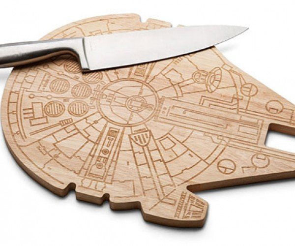 Millennium Falcon Cutting Board: Cut 12 Parsnips in 12 Parsecs