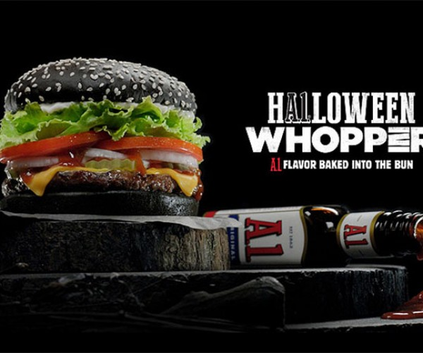 Burger King HA1loween Whopper has a Black Bun