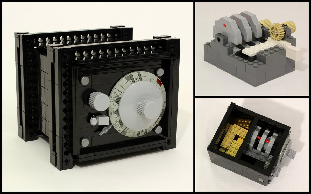 fully functional lego safe protects your bricks technabob. Black Bedroom Furniture Sets. Home Design Ideas