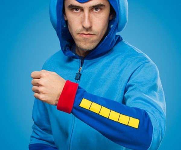 ThinkGeek Mega Man Hoodie: Blue Bomber Jacket