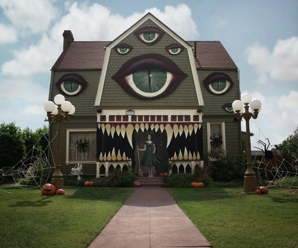 Artist Transforms Parent's House into a Monster