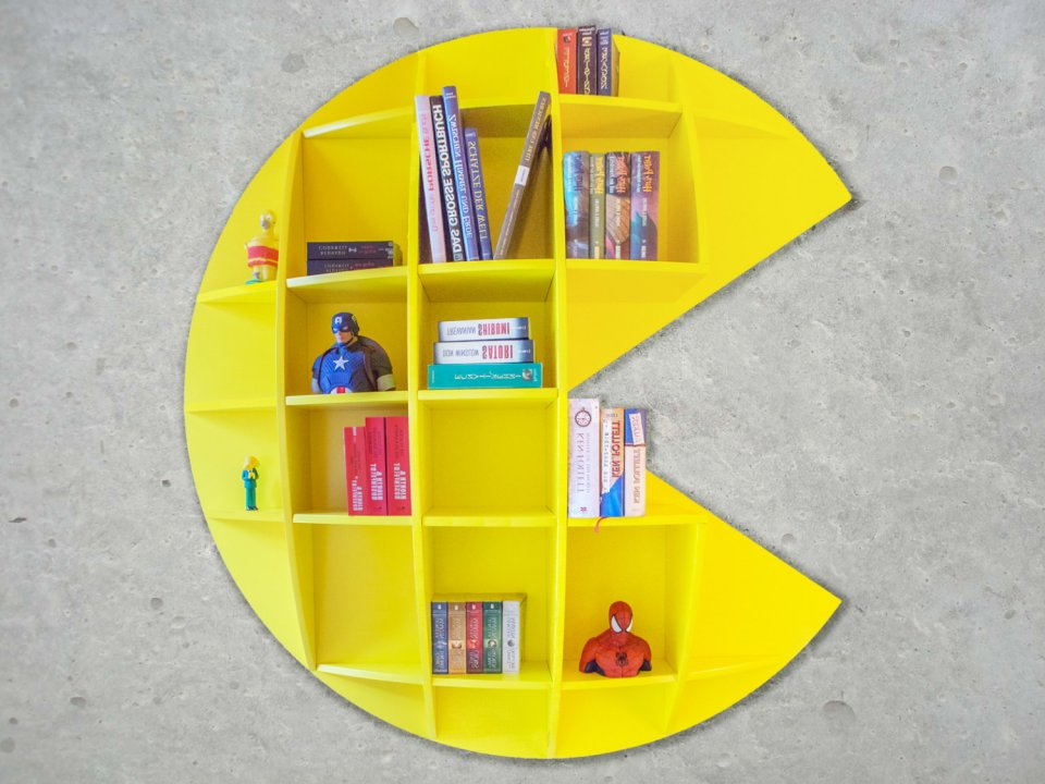Bookshelf From German Maker Trebel F Is A Pretty Awesome Piece Of Furniture I Wouldnt Even Put Books In It Would Pac Man Toys So