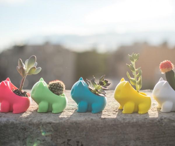 3D Printed Pokémon Planters: LeafGreen