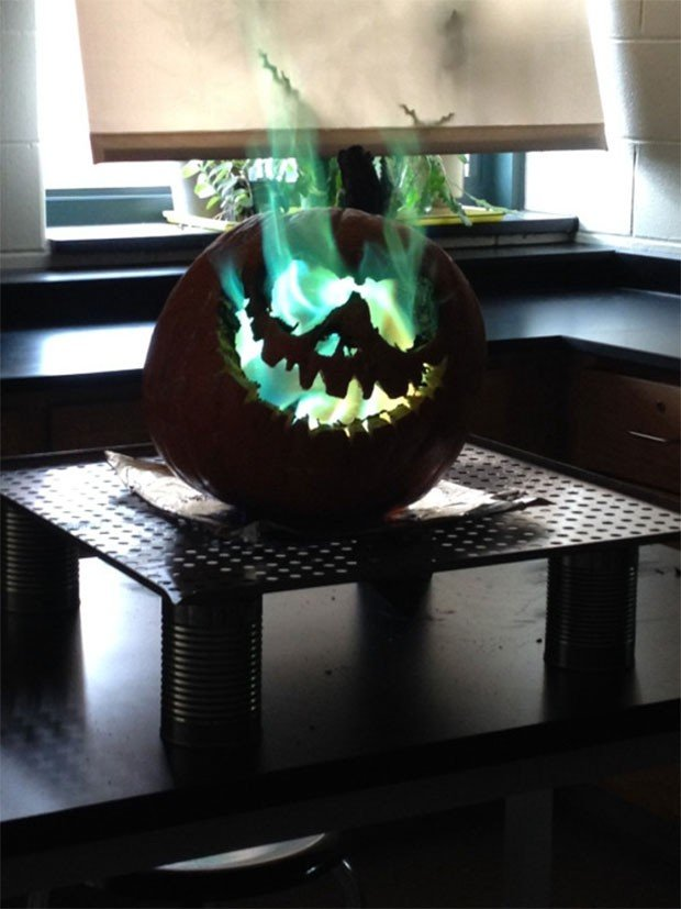 pumpkin-green-fire