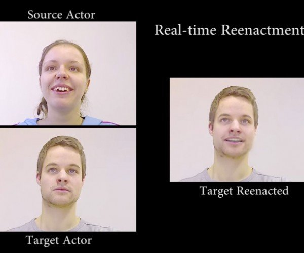 Real-Time Facial Expression Transfer: Virtual Face/Off