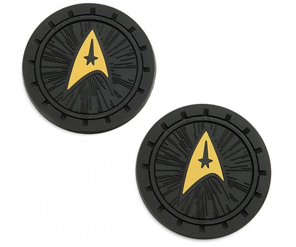 Star Trek Delta Logo Auto Coasters Boldly Protect Cup Holders