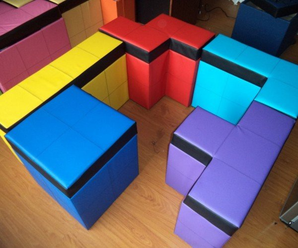 Tetris-shaped Storage Benches: Stack and Sit