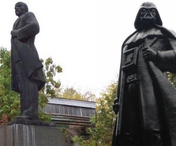 Lenin Statue in Ukraine Transformed into Darth Vader: Darth Lenin
