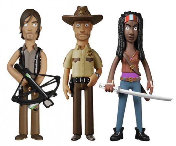 Vinyl Idolz Walking Dead Action Figures Give Walkers the Stink Eye