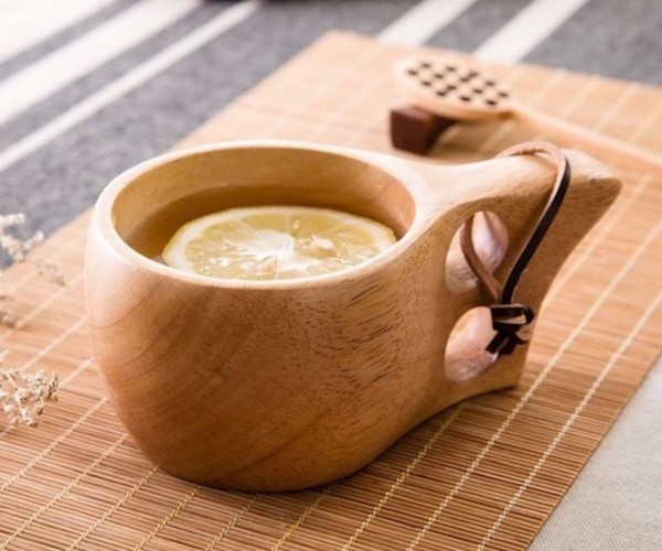 Ergonomic Wooden Coffee Mug Solves a Problem You Didn't Know You Had