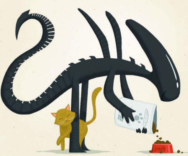 Artist Envisions Friendly Xenomorph That Doesn't Want to Kill You