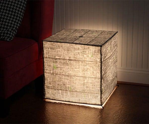 Borg Cube Paper Lantern: Darkness is Futile