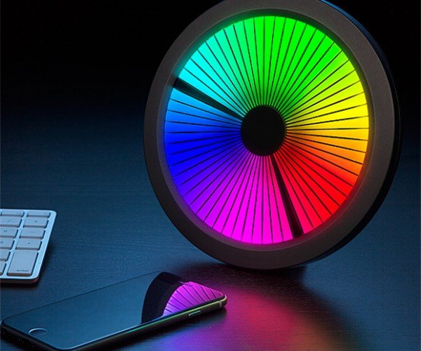 ThinkGeek Chromatic LED Color Spectrum Clock: 2015: A Time Odyssey