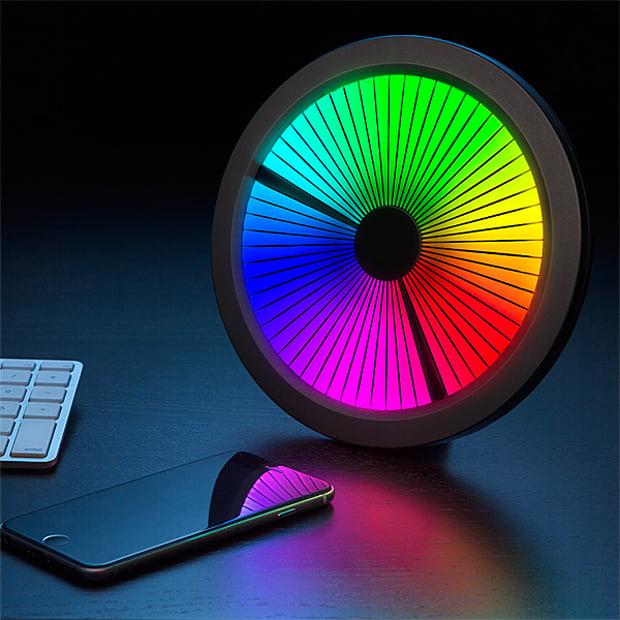 Thinkgeek Chromatic Led Color Spectrum Clock 2015 A Time