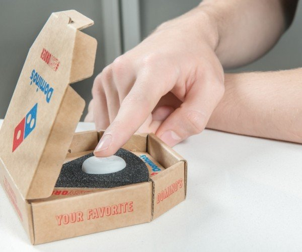 Domino's Offers One-button Pizza Ordering: Cheesy Button