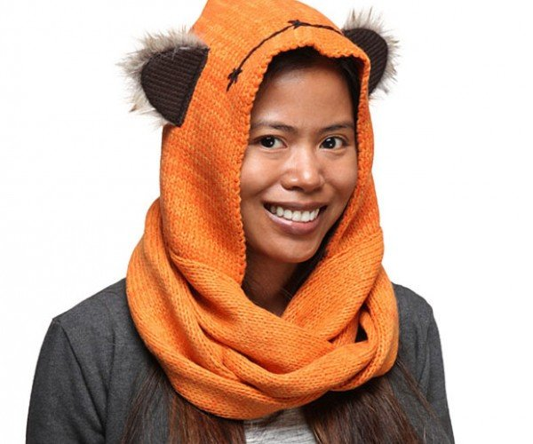Star Wars Ewok Knit Hooded Scarf: YubNub!