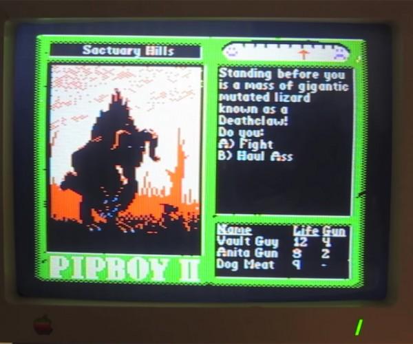 Fan Made Fallout 4 Apple IIc Demo: Fallout '84