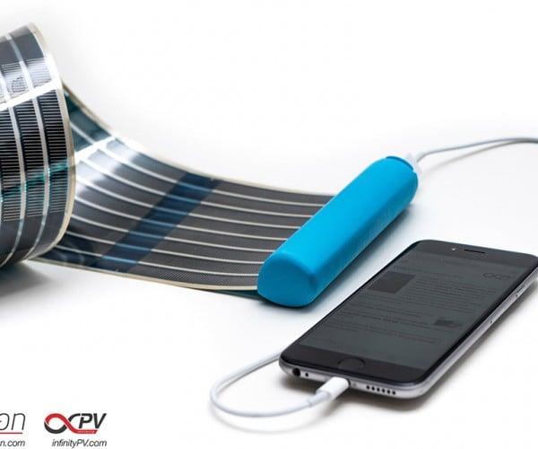 HeLi-on Portable Solar Power Bank: Juice Roll-Ups