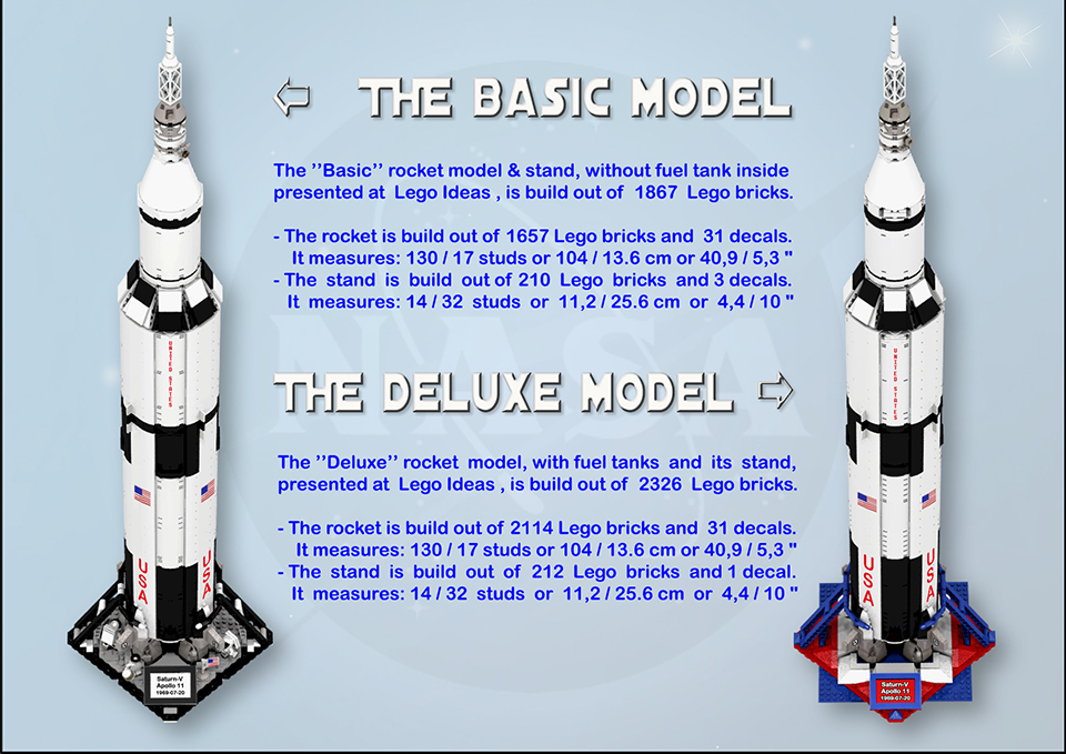 LEGO Apollo 11 Saturn V Rocket Concept: the Eagle Has Almost